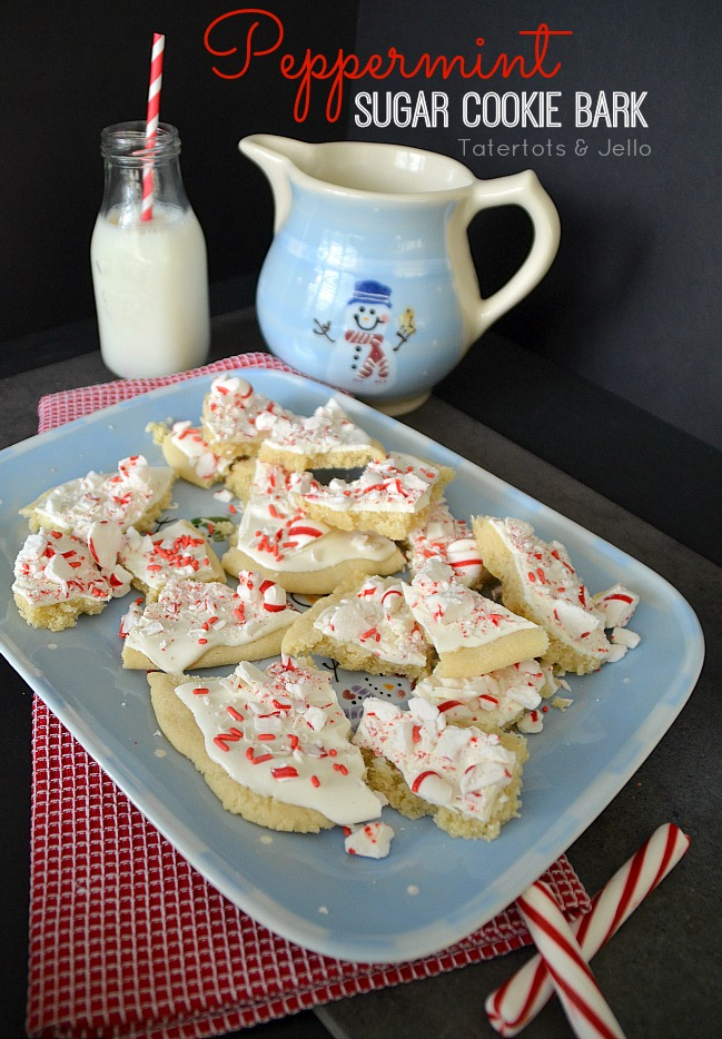 peppermint sugar cookie bark easy recipe at tatertots and   jello