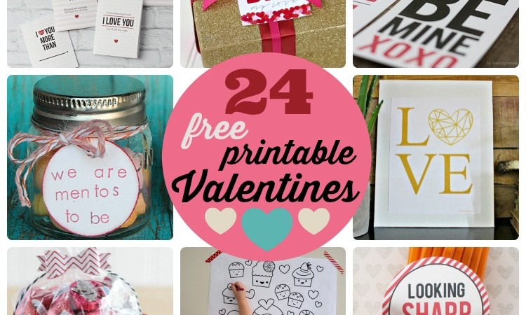 Great Ideas — 24 Free Printable Valentines!