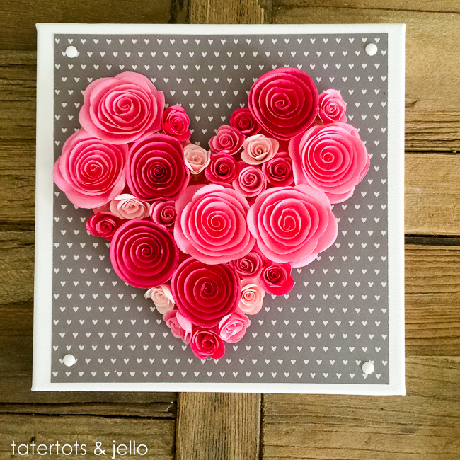 Easy 10 Minute Valentine S Day Wall Art And Free Templates