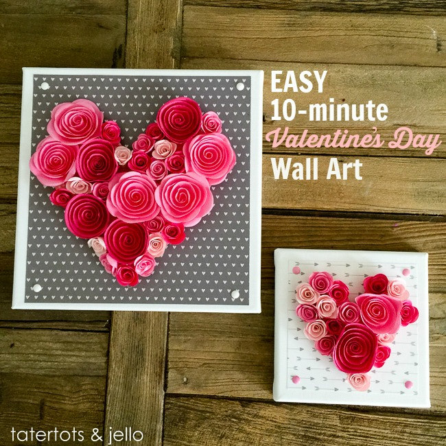 Easy 10-Minute Valentine's Day Wall Art [and free templates!]
