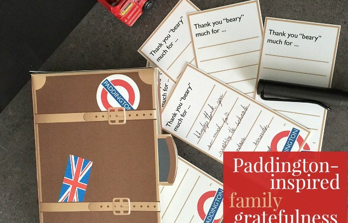 "Paddington-Inspired Family ""Gratefulness"" Free Printables!"