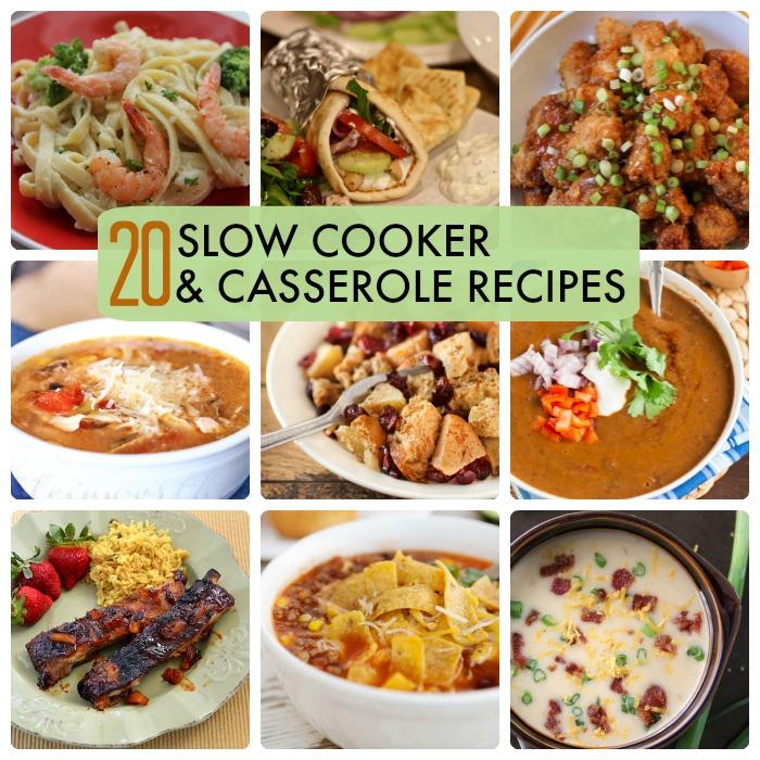 Great Ideas -- 20 Slow Cooker & Casserole Recipes!