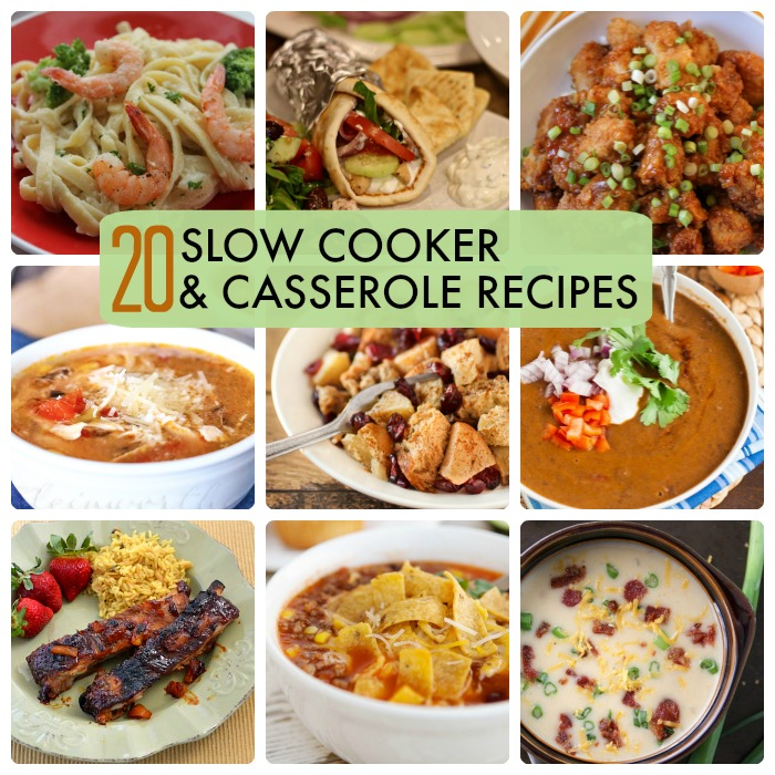 Great Ideas -- 20 Slow Cooker & Casserole Recipes!