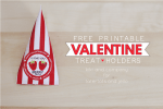 Free Printable Valentine Treat Holders