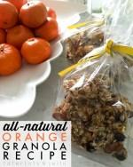All-Natural Orange Granola Recipe!