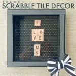 Framed Scrabble Tile Decor!