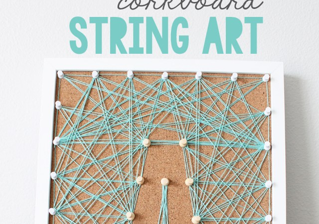 DIY Corkboard String Art