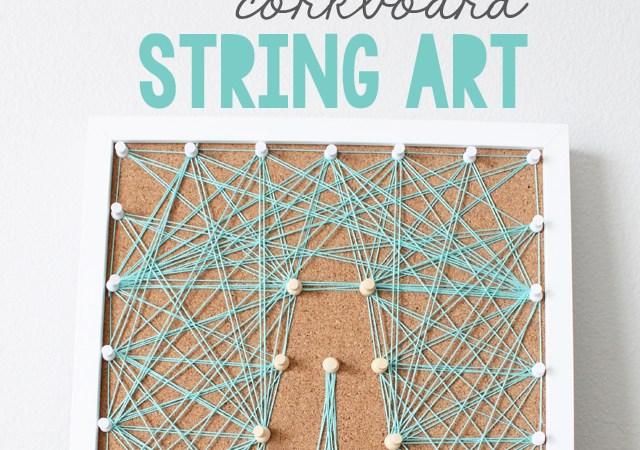 DIY Corkboard String Art