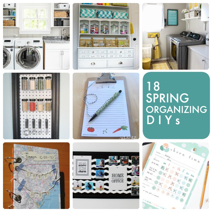 Great Ideas -- 18 Spring Organizing DIYs!