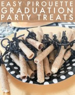 Easy Pirouette Graduation Party Treats
