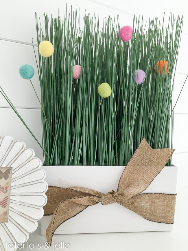 Felt little balls plant decor | DIY Felt Balls Projects And Crafting Ideas