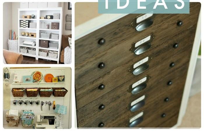 Great Ideas — 17 DIY Organizing Ideas!