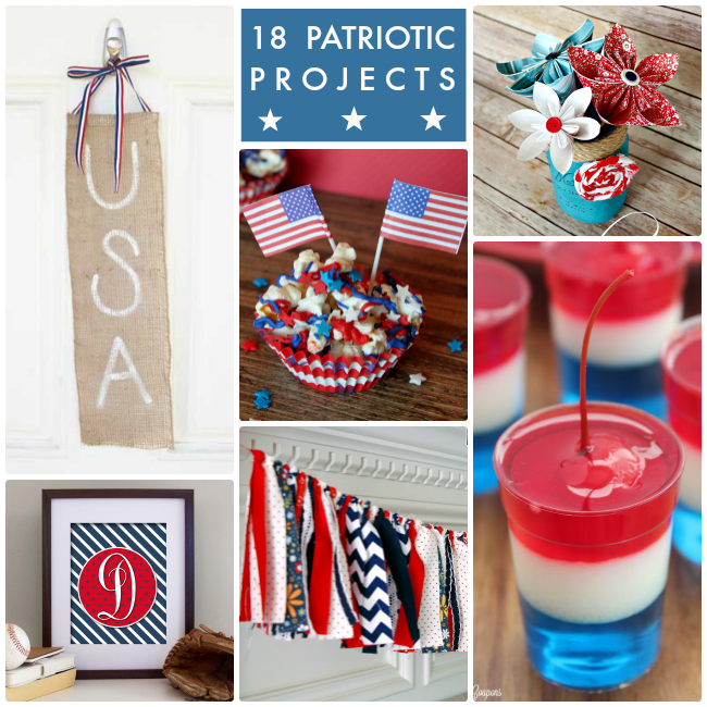 18 Patriotic Projects Collage