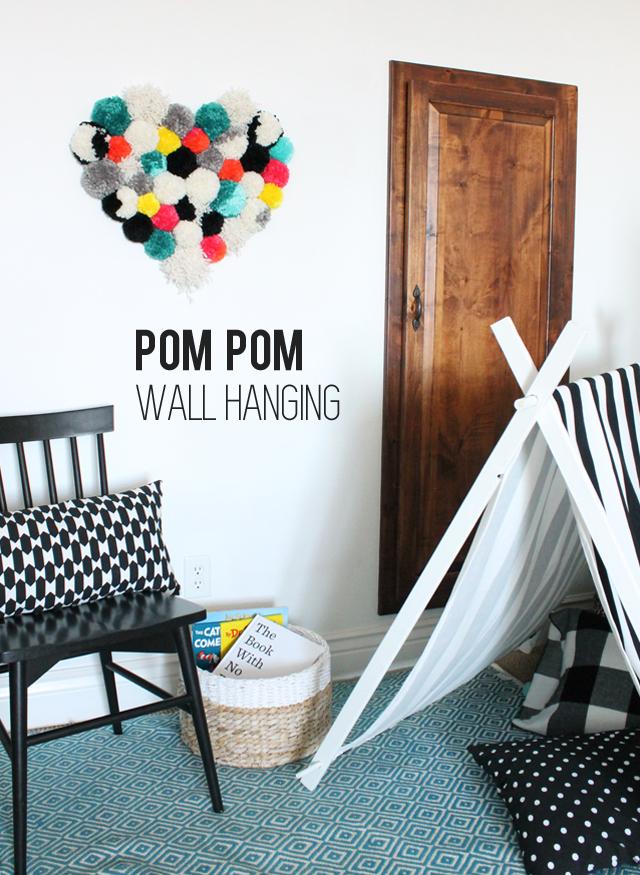 DIY-pom-pom-wall-hanging