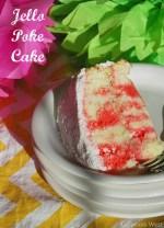 Raspberry Jello Poke Cake