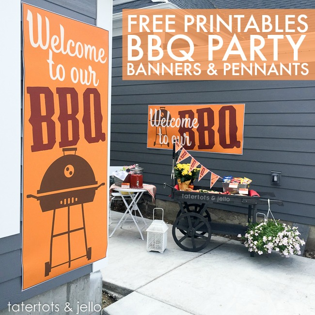 picture about Free Printable Banners and Signs named BBQ Celebration Absolutely free Printables - totally free banners, signs and symptoms poster and extra!