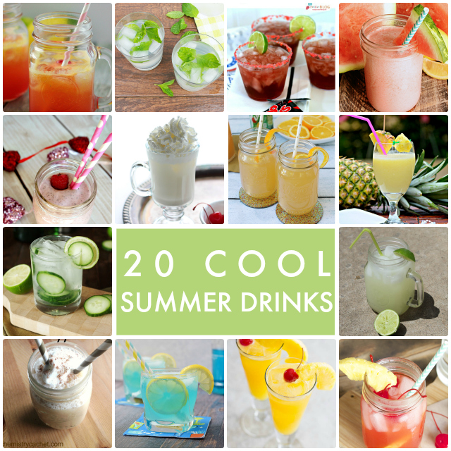 20 Cool Summer Drinks Collage