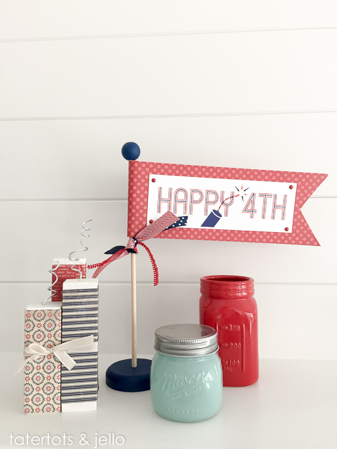 Happy Fourth free flag printable