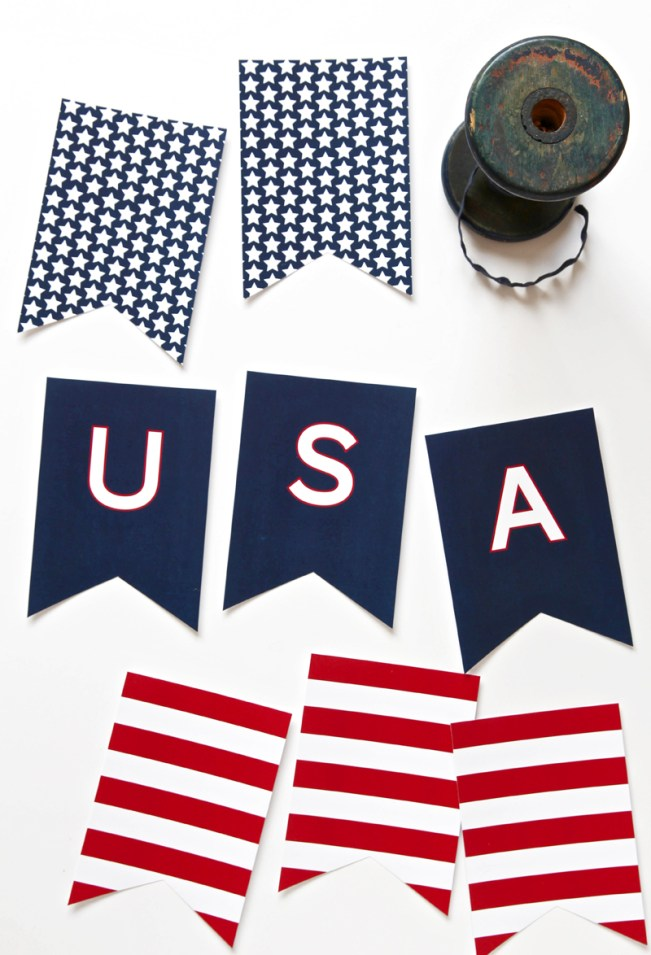 Fourth of July Nautical Free Printable Banner