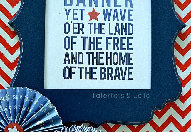 Fourth of July Free Ombre Patriotic Printables!