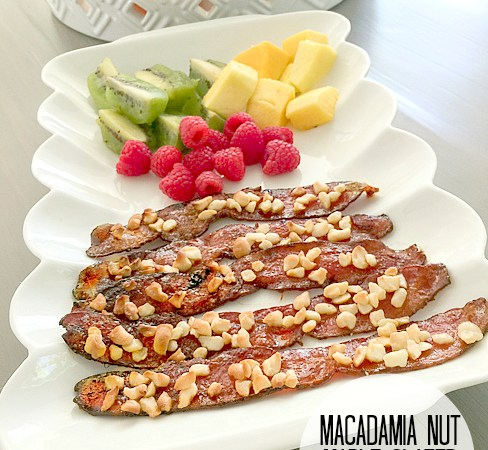 Macadamia Nut Maple Glazed Bacon Recipe