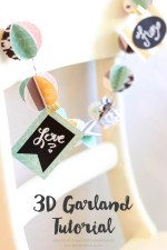 3D Paper Garland Tutorial
