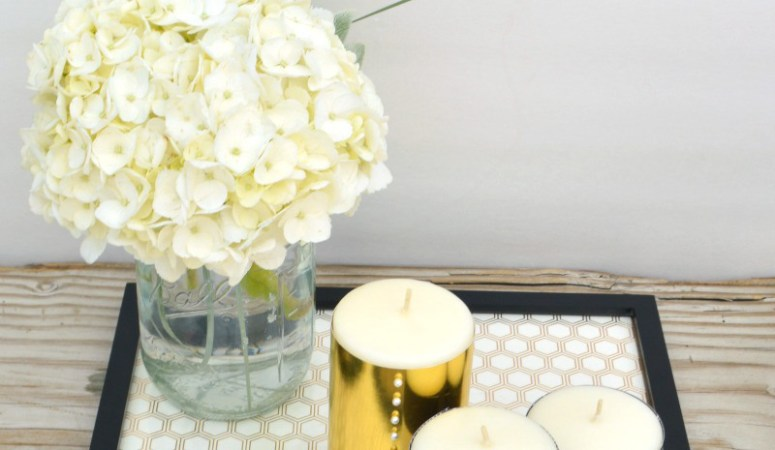 Embellished Candle Centerpiece
