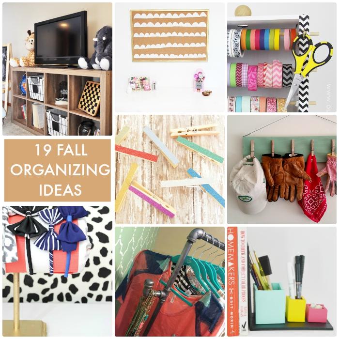 19 Fall Organizing Ideas