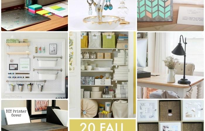 Great Ideas — 20 Fall Organizing Ideas!