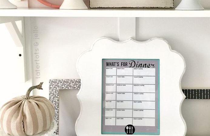 Weekly Menu Planner: Back to School Free Printable!