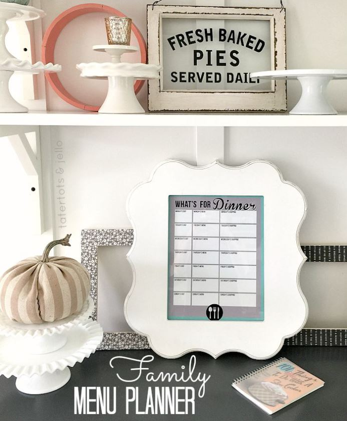 family.menu.planner.tatertotsandjello.printable