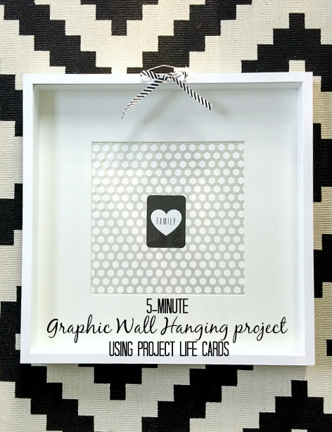 graphic frame grouping using project life cards