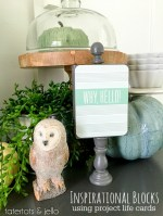 Make Wood Block Decor using Project Life Cards!