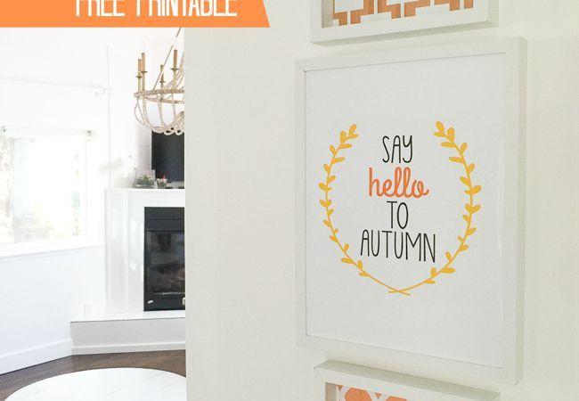 """""""Say Hello to Autumn"""" Free Printables!"""