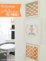 """Say Hello to Autumn"" Free Printables!"