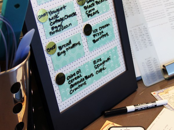DIY Dry Erase Memo Board