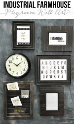Industrial Farmhouse Playroom Wall Art