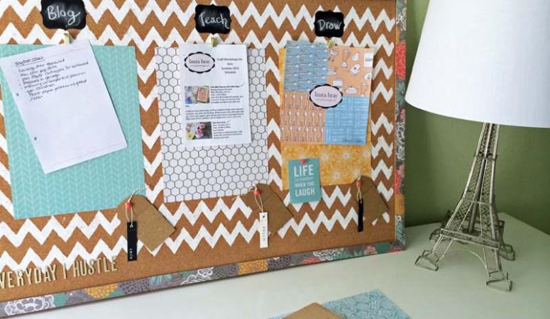 Home Office Organization Corkboard