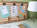 Home Office Organization Corkboard
