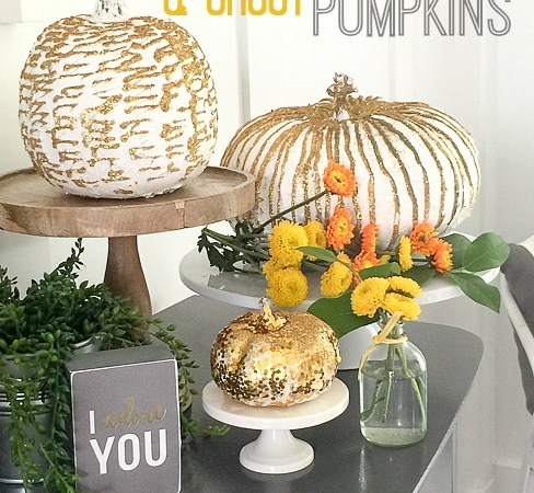Gold, Glitter and Grout Pumpkins!