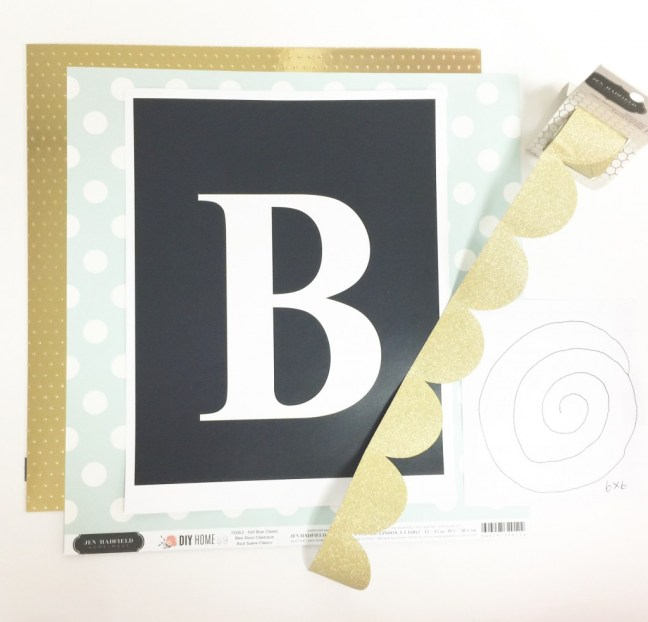 how to make a monogram clipboard