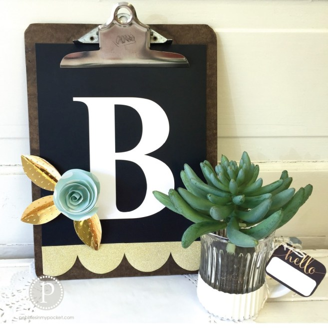 monogram clipboard DIY