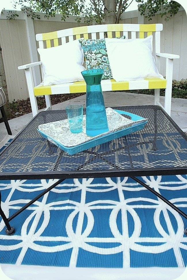 painted patio rug