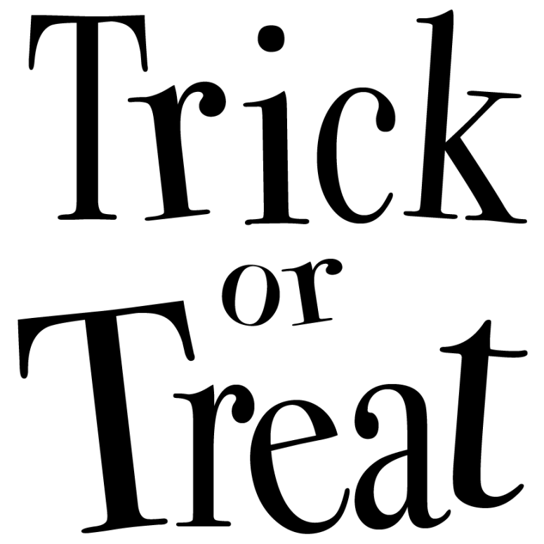 Trick or Treat 12 by 12 pillow