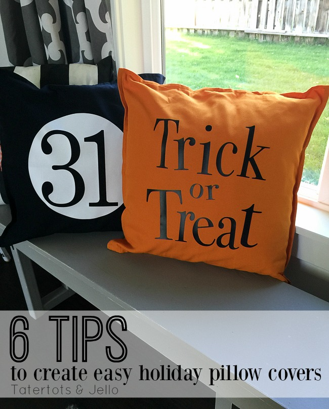 easy halloween pillow covers