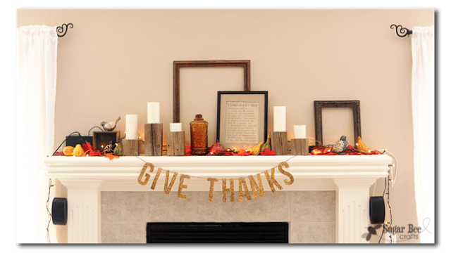 give thanks glitter banner