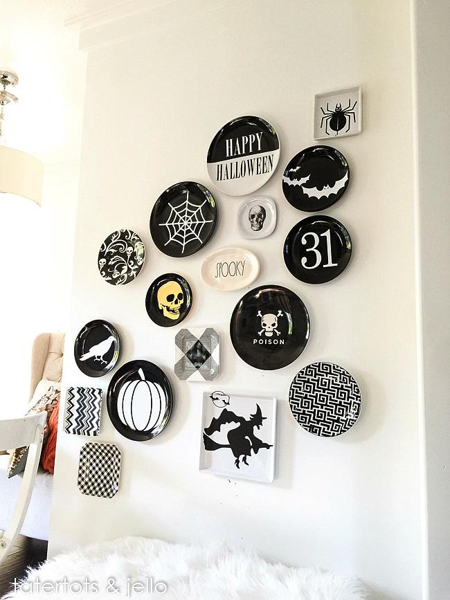vinyl halloween plate wall