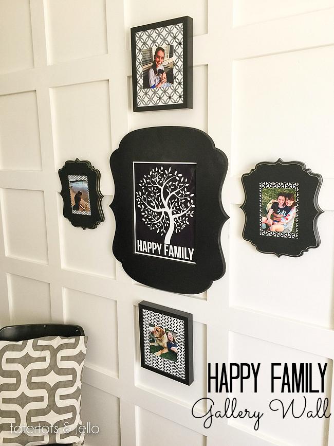Happy Family Gallery Wall