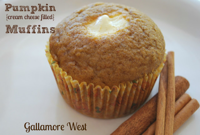 Pumpkin Cream Cheese Filled Muffin Recipe!