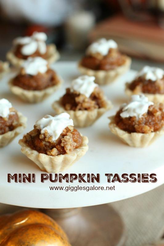 Mini Pumpkin Tassie Cooke Cups